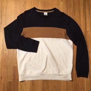 Zara mens Crew sweatshirt - XL - Blue/Tan/White